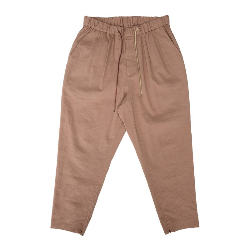 Nine points elastic waistband pants