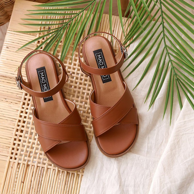 PRE-ORDER – MACMOC Gaia (BROWN) Sandals