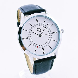 UNI BASIC Special Red Dot Date Calendar Watch (White)