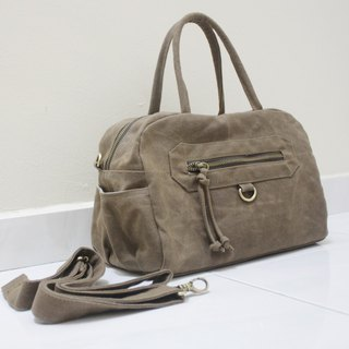 Handheld Satchel Bag / Crossbody Bag / Travel bag / Zipper Canvas Bag - HERMATE