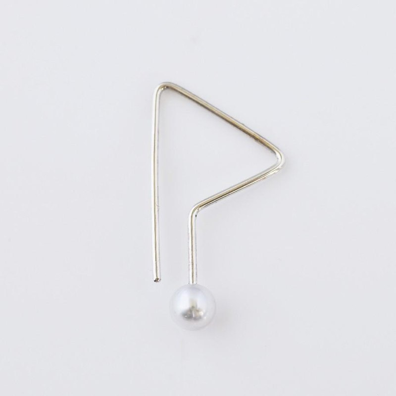 Geometric line earrings
