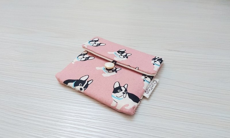 Seal Bag Hygiene Cotton Cloth Bags Cosmetic Bag Condon Bag AK-83 Dog Pink Style