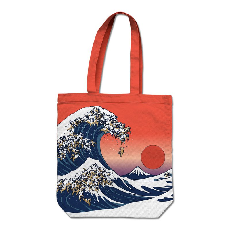 PUG Life • The Great Wave Of Pug • Tote Bag