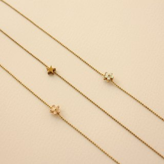 ◆hippie◆│Fine Brass Beaded Chain Anklet with Star Pendant