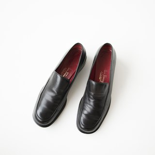 Salvatore Ferragamo Loafer Shoes Dark Black Loafers Banana Cat