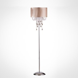 BNL00003- chrome metal floor lamp