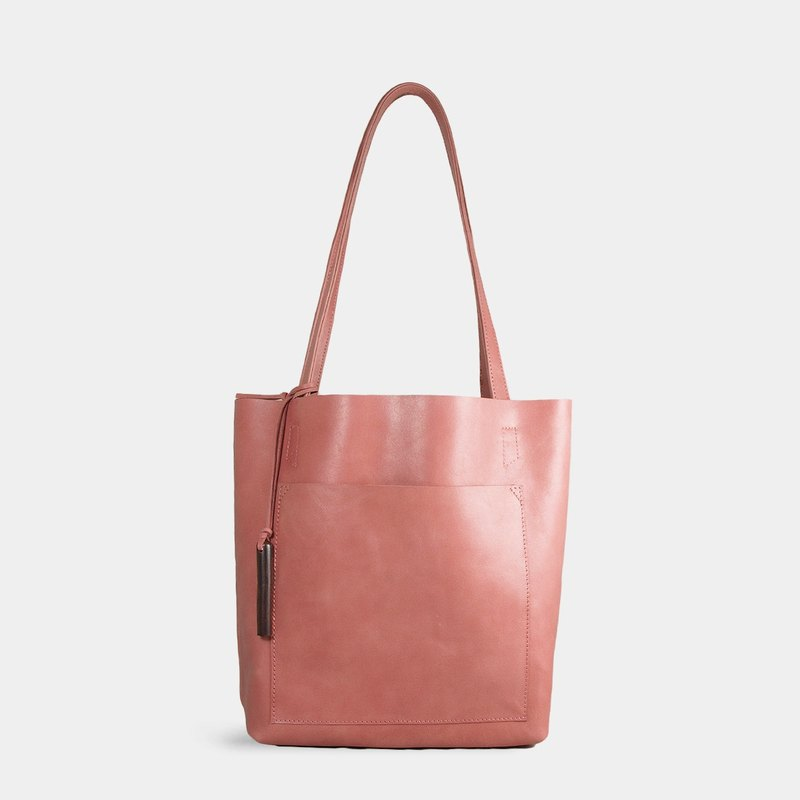 Influxx S1T1 - Basic Leather Tote - Ash Rose Pink
