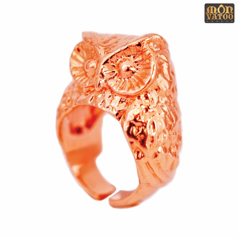 Rose Gold Owl Ring