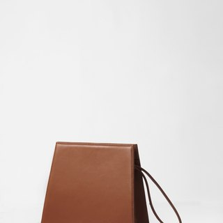 Karpa Clutch in Terracotta - minimalist structured leather clutch