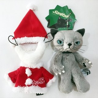 [Christmas Edition] SCRATCH, Japan caught cat fluffy doll ornaments _ gray 13cm