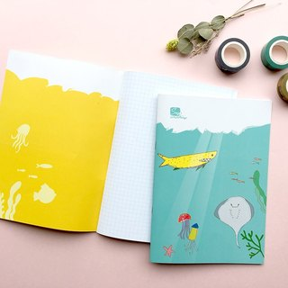 [Underwater world] personal original hand-painted notebook inside check