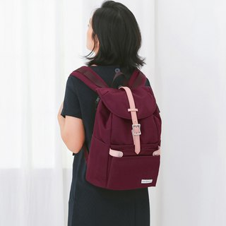 150 colors with backpack and small bag travel bag Havana - Bead red DUDEBESTIE