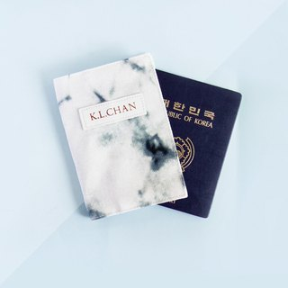 Bronzing rose gold stamping name passport holder green marble marble