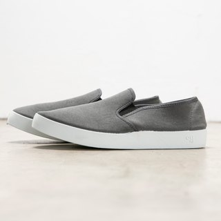 OLI13 slipper SLIP ON - gray canvas shoes│ men's and women's shoes