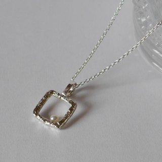 Square necklace (sv)