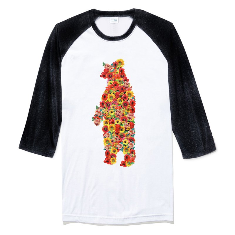 Florai Bear 3/4 sleeve t shirt