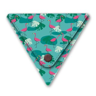 I like paper® TROPICAL HEAT Triangle purse / coin pocket / coin purse / Made in Germany