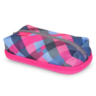 Tiger Family MAX Simple and Stylish Pencil Box - Blueberry Grid