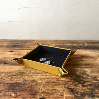 Multi tray mini mustard made of canvas