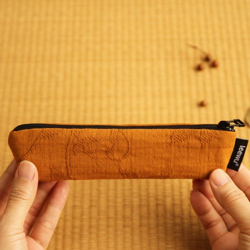 Kyoto season color ‧ boat pen bag KOHAKU amber
