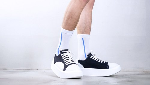 Instigator X Zakka W / Blue Line neutral cool sock