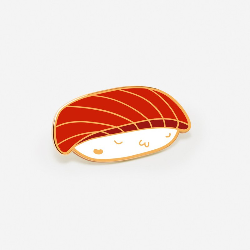 Salmon Sushi Hat/ Enamel Pin