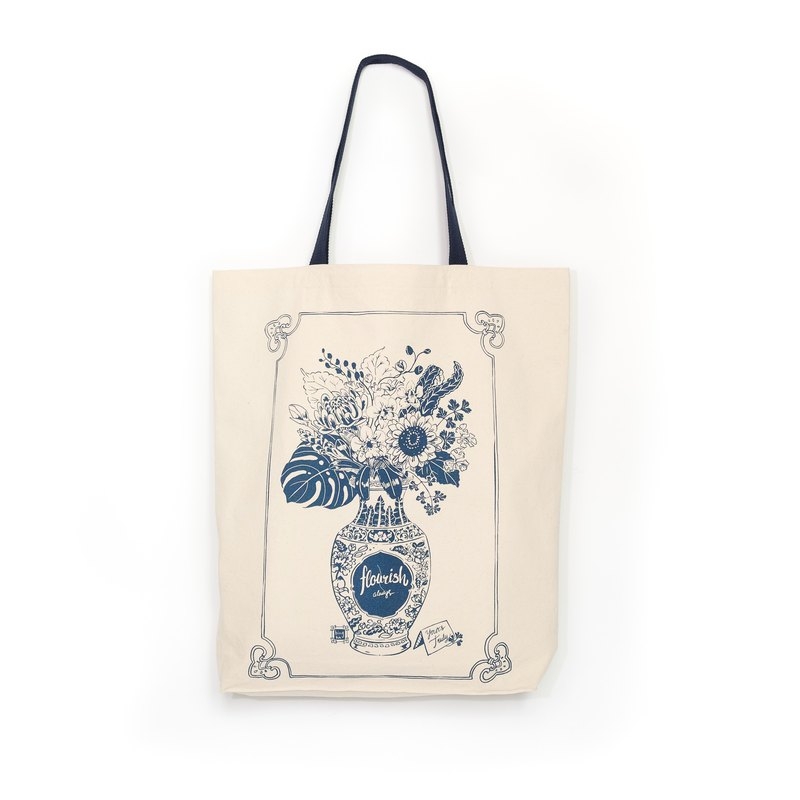 Shopping tote bag Flourish Design