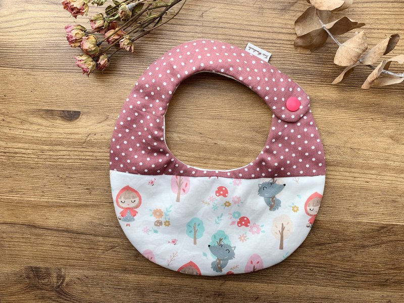 Little red riding hood and big wolf stitching baby six-layer gauze bib