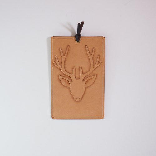 Leather Postcard - Deer