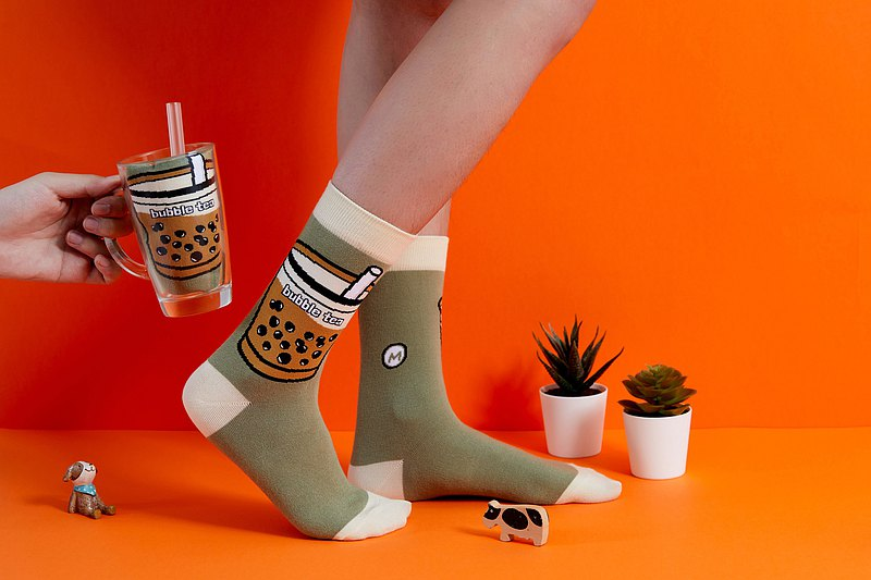 Pack Of 2=Taiwan Bubble Tea SOCKS 2PRS