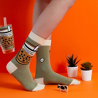 Taiwan Pearl Tea Socks (2pcs) Taiwan Bubble tea SOCKS