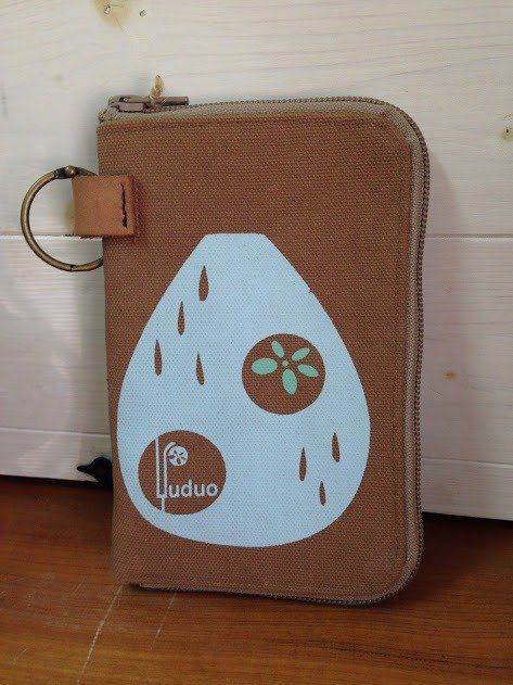 Raindrops travel ‧ cell phone bags (can be purse) khaki