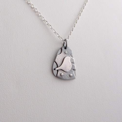 Birds in the Forest - Sterling Silver Bird Necklace