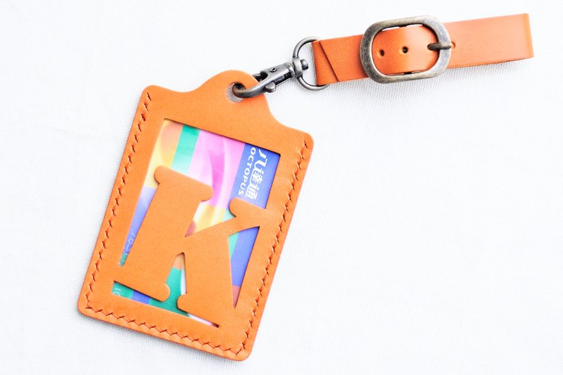 [RAINBOW8 | fresh orange | ARANCIA- initial letter A to Z English letter luggage tag] good sewing leather bag free bag hand-pressed word rainbow card sets card holder name card holder luggage travel accessories travel folder clip simple and practical Itali