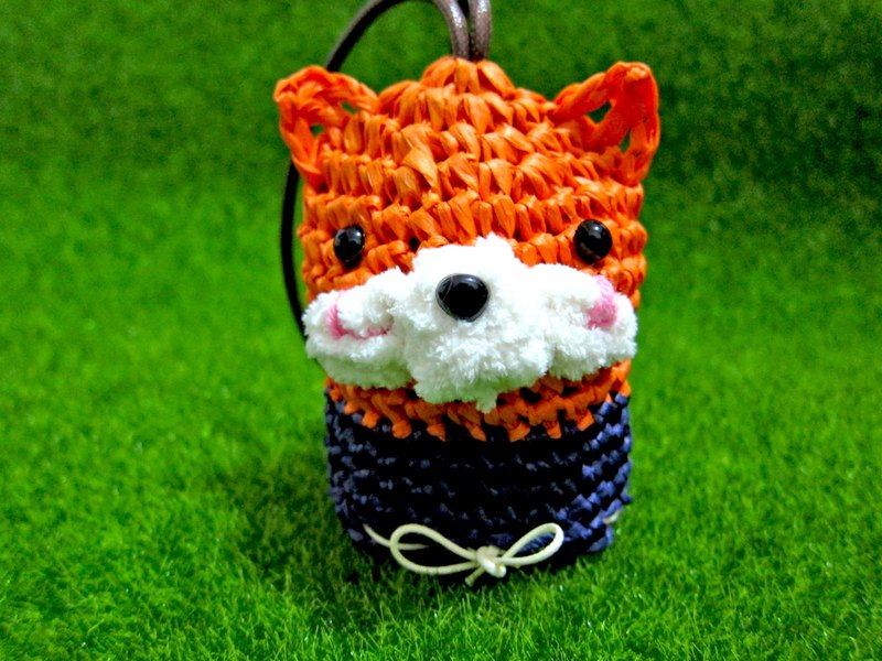 Fox natural plant fragrance fragrance bag + bag | tea leaf Cat Mother & child. Handmade [joint cooperation]
