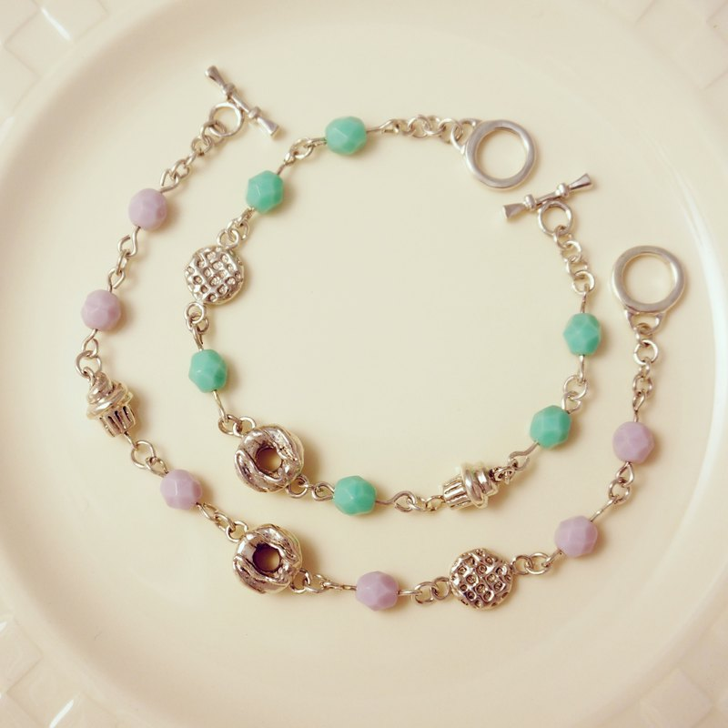 Fancy Moon * Sweet Moment. Heart Chain ‧ bracelet ‧925 sterling silver