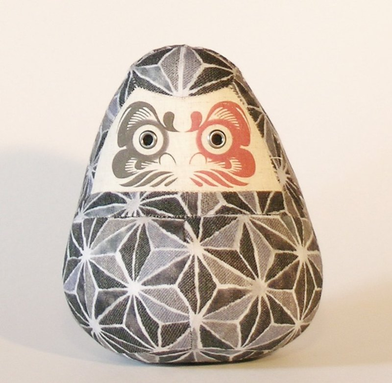 Daruma doll 【Japanese Hemp patten 】Small size