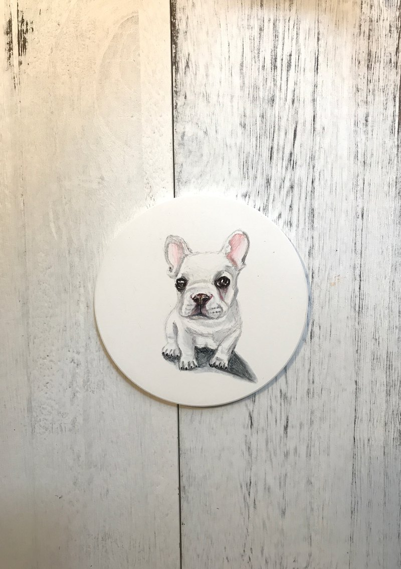 Hand painted ceramic coasters