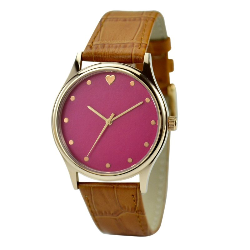 Mother's day - Elegant Watch with heart red face