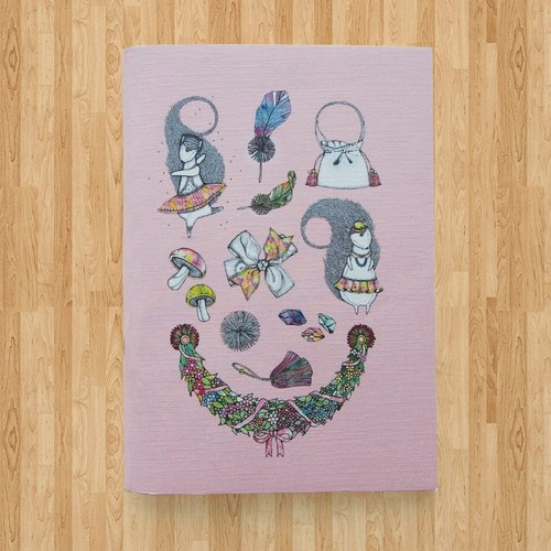 Notebook A6 - The Wonderland ( Pink )
