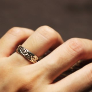 Lace texture 925 silver ring