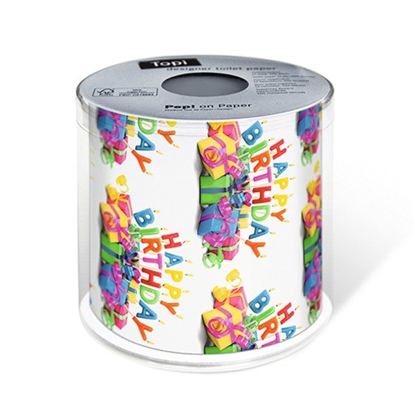 (Paper + Design) Toilet Paper-Happy B-day