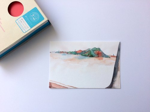 Seto Inland Sea - Memory island landscape watercolor sketch postcard