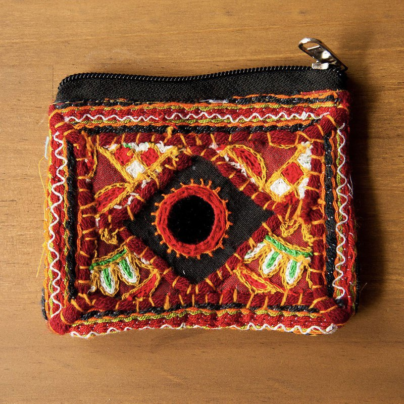 Rajasthan Handmade Mirror Embroidered Coin Purse