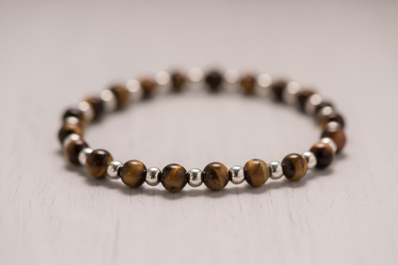 Tiger eye series. courage. Tiger eye stone 6mm bracelet.