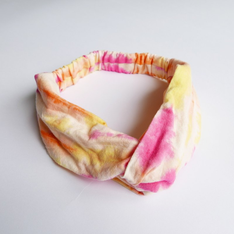 Tie dye/handmade/Headband/Elastic band :Sunset: