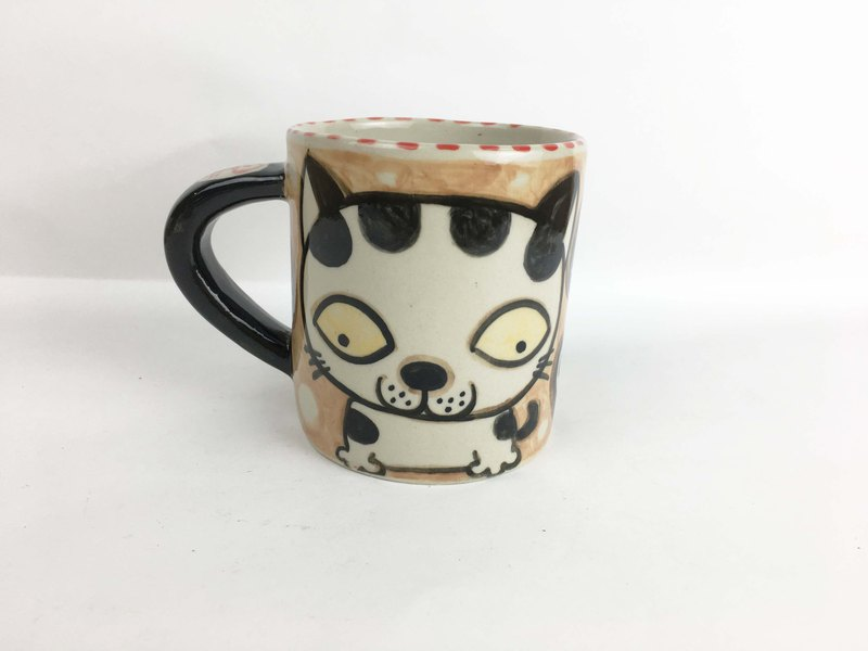 Nice Little Clay Mug Various Cat Brown 01061-11