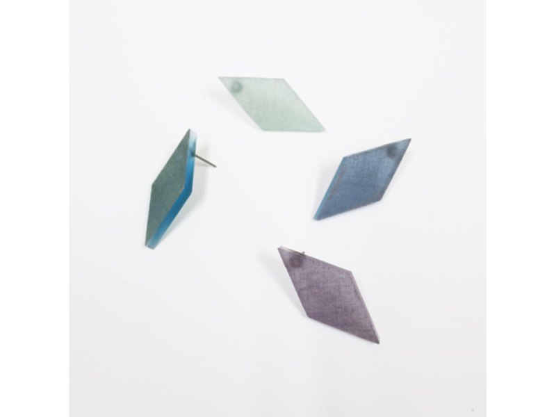 Select from 4 colors [One ear earring] Indigo dye geometry / E-6 _ DS_AI
