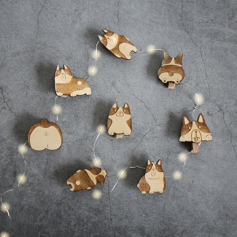 Limited Gifts - Dogs Love Biting Line Lights - Wall Mount / Copper Lights / Keji