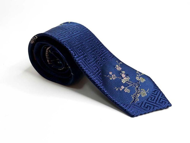 Neckties Floral and circle